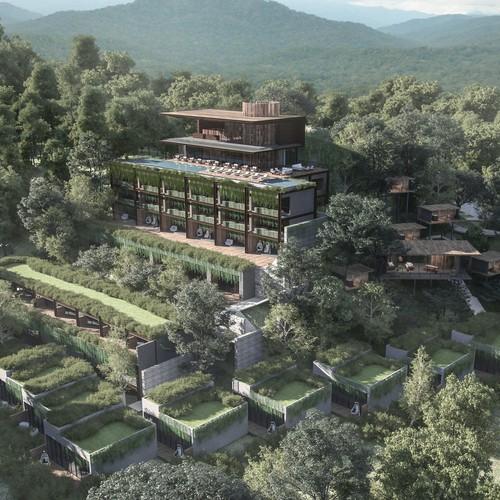resort jungle rendering