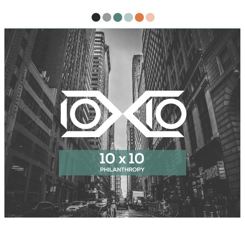 10 x 10 Philanthropy Logo design