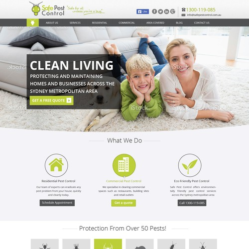 landing page contest for pest control