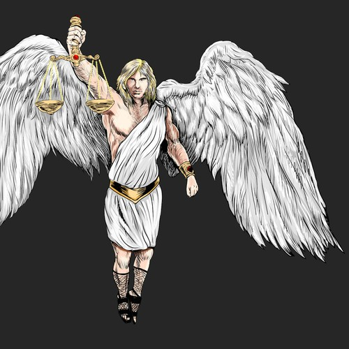 Angel chararacter illustration.