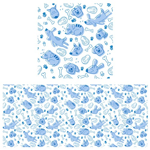 Funny dogs pattern