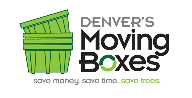 Create the next logo and business card for Denver's Moving Boxes
