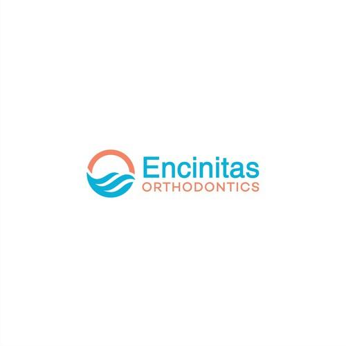 Letter wave design logo for Orthodontist