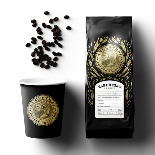 Ancestral coffee logo & packaging design