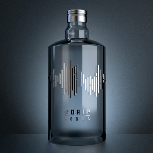 Design a bottle label for #Drip Vodka