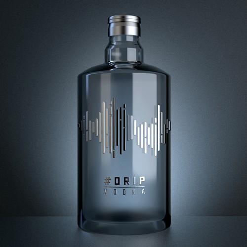 Design a bottle label for #Drip Vodka