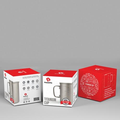 Modern design for a Titanium Cup
