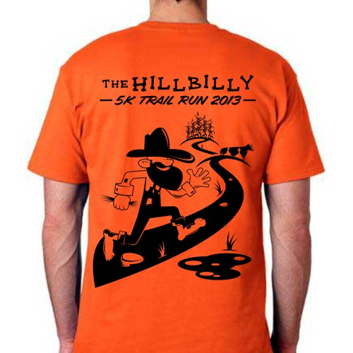 New t-shirt design- Hillbilly 5K Trail Run