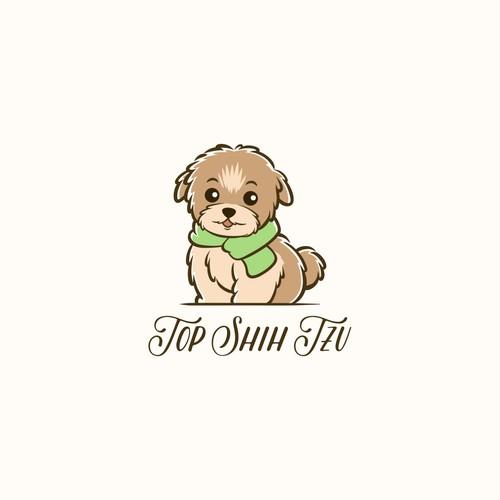 A dog logo for a blog about Shih Tzu dog breed