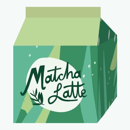 Matcha Latte carton