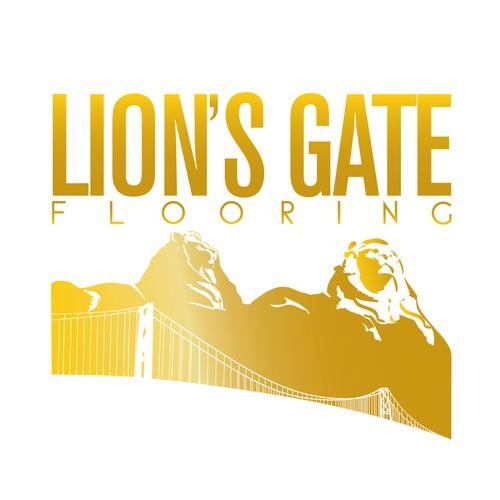 Create the logo Lion's Gate Flooring