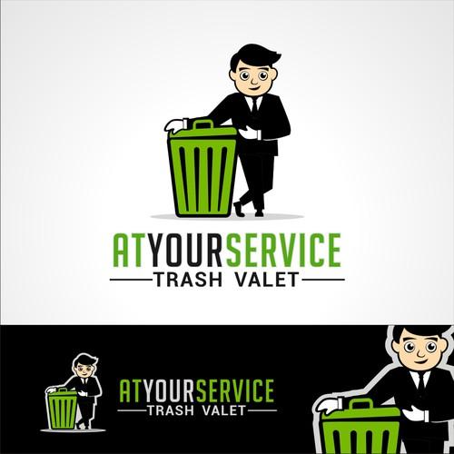 Logo for a trash valet company