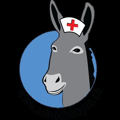 Logo for Health Center That Uses Donkeys