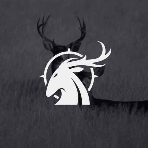 modern deer hunter logo