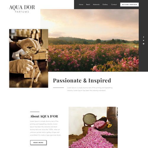 AquaDor Perfume Website Design