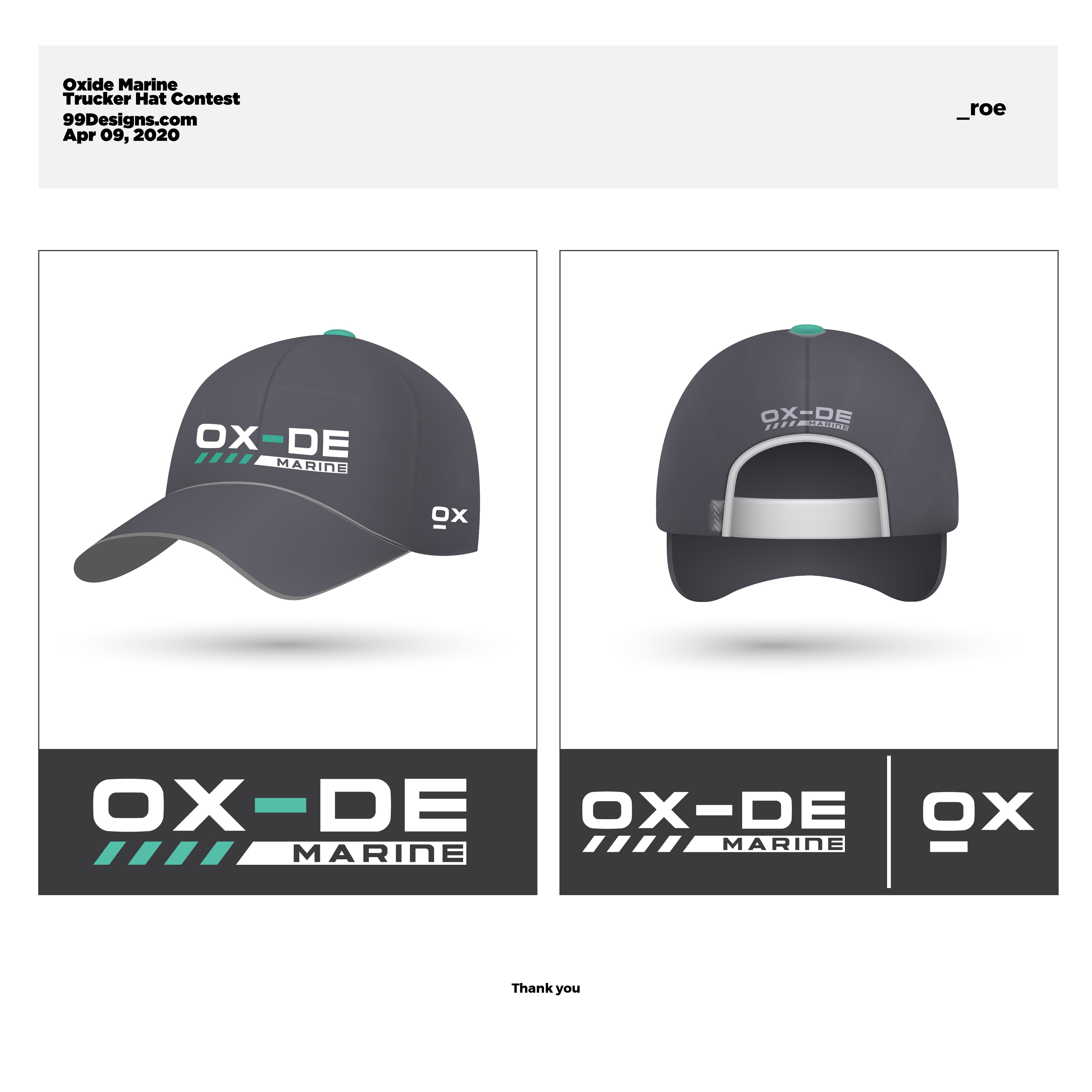 Trucker Hat design for watersport apparel brand Oxide Marine