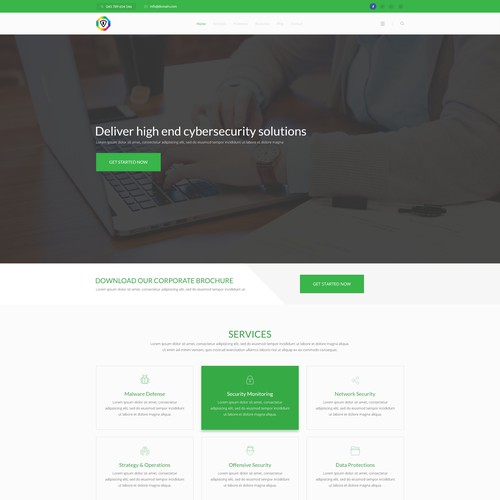 Clean, professional company profile website