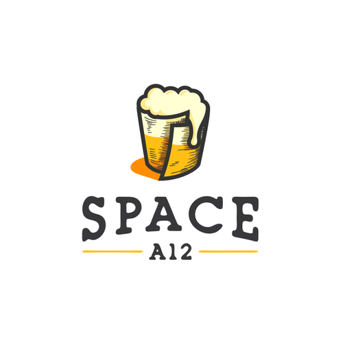 Design a logo That has to do with space books and beer