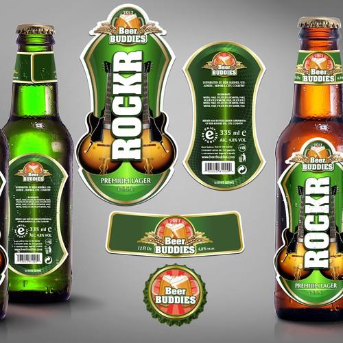 ROCKR brand label needed for a beer bottle