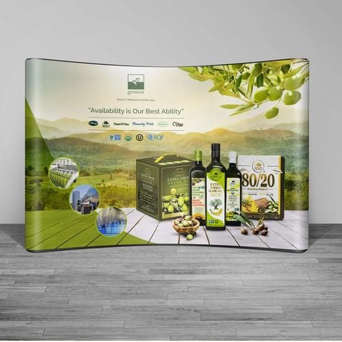 Gemsa Olive Oils Trade Show Banner