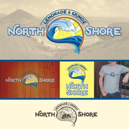 Fun logo for north shore lemonade and grinds