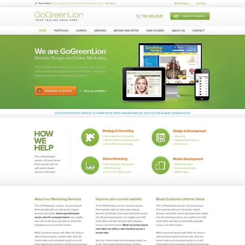 GoGreenLion needs a new website design
