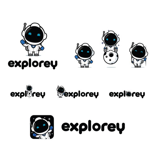 Cute logo for explorey