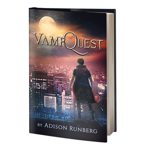 VampQuest book cover design