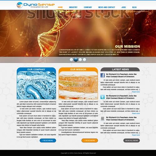 Help DynoSense Corp. www.dynosense.com with a new website design