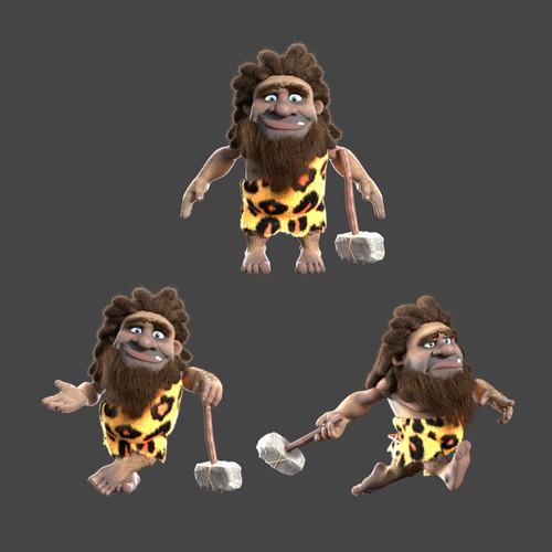 3D Caveman Character