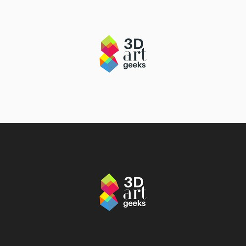 logo concept for 3d art printing company