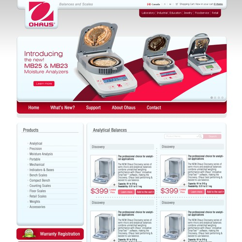 Website for OHaus