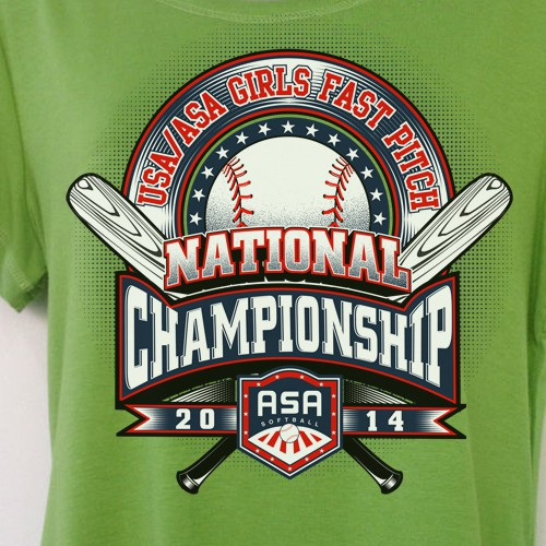 Team IP needs a design for the USA/ASA 16U Girls Fast Pitch National Championship!!!