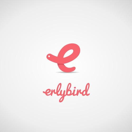 Logo concept for 'earlybird' (worm/e)