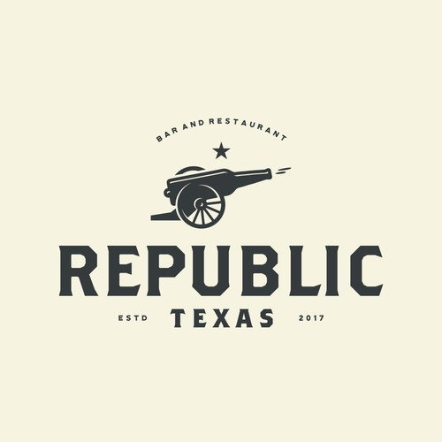 Design a logo or brand mark for Republic, the newest attraction to the Dallas restaurant scene