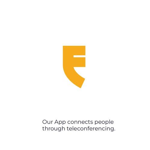 simple letter f logo design