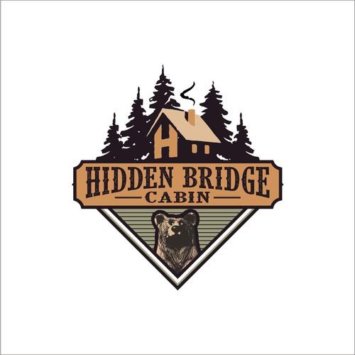 logo concept for Hidden Bridge Cabin