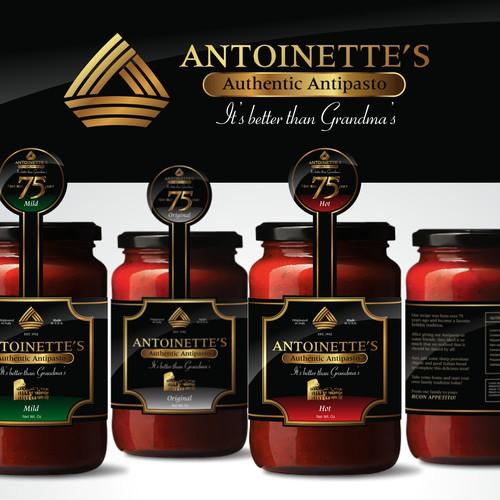Antoinette's Authentic Antipasto Brand and Label Design