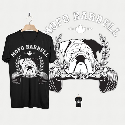 Shirt Design for a Barbell Club
