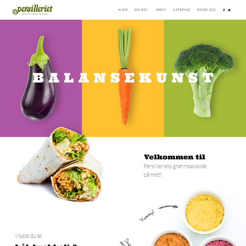Website design for innovative vegan eatery