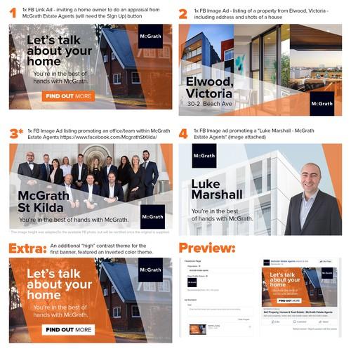 Stylish FB banner campaign for McGrath Estate Agents