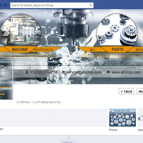 a new page for Facebook twitter and google+