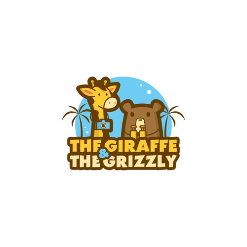 Giraffe and grizzly for travel blog