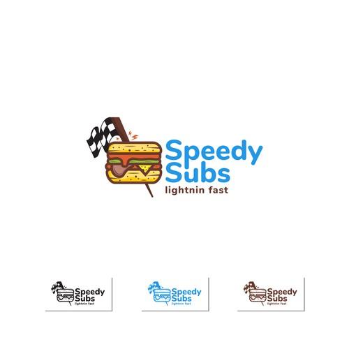 Cartoon Logo design for Sandwhices Speedy Subs
