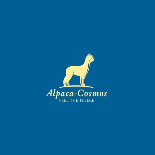 Stylish alpaca logo