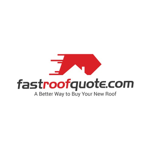 Modern and flat logo design for fastroofquote.com