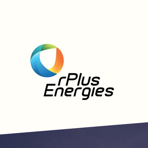 rPlus Energies logo with a powerful logo and biz card!