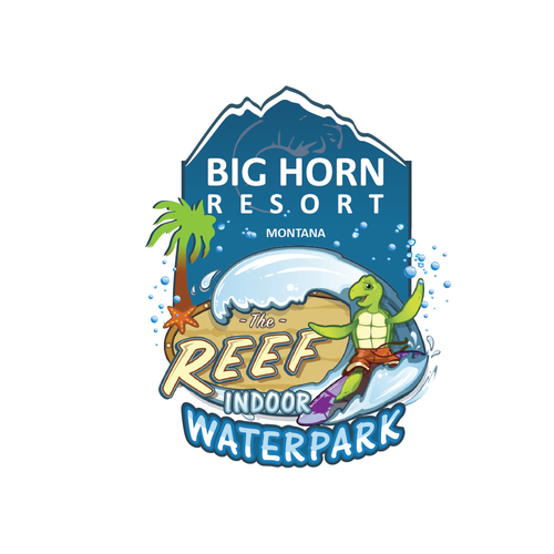 Combined logo for Resort and water park