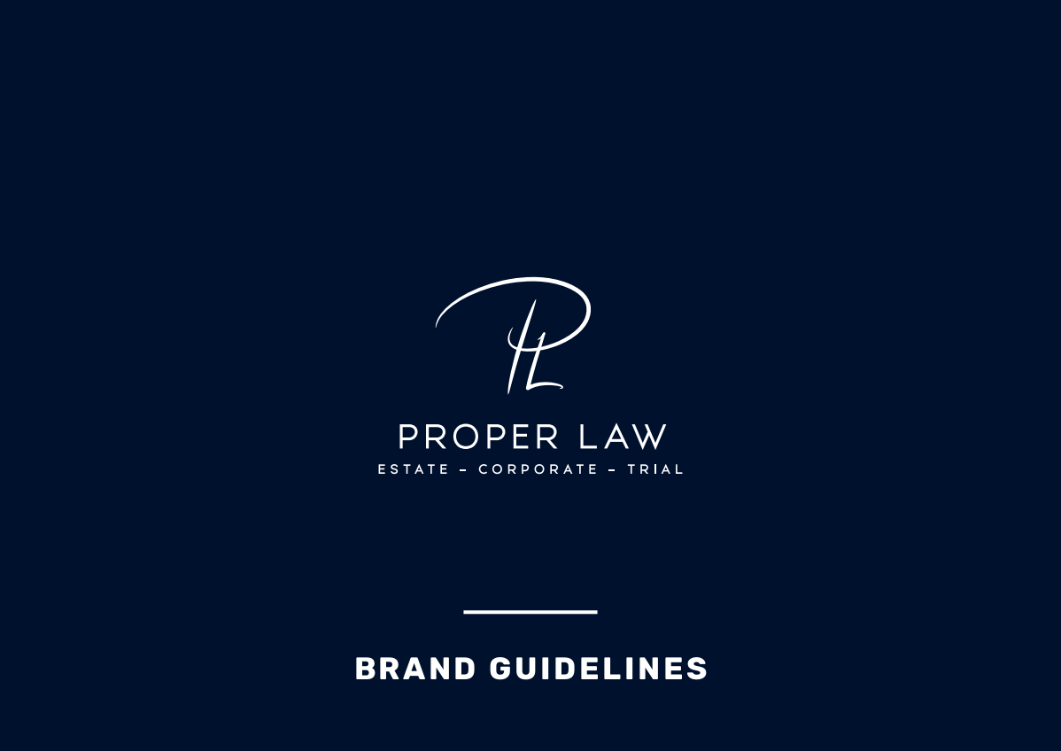 Proper Law - Logo + Business card + Letterhead design