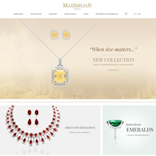 Home Page for Maximilian Jewellery